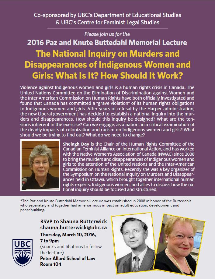 Butterdahl Memorial Lecture